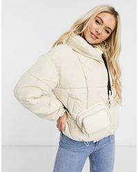 Pieces Padded Jacket - Natural