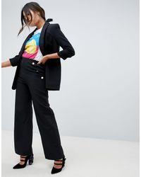 Amy Lynn Pantalon large ajusté - Noir