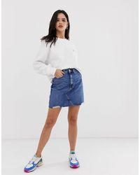 River Island - Denim Mini Skirt - Lyst