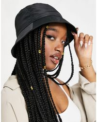 ASOS Nylon Bucket Hat - Zwart