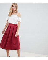 5c25e1ac22 Lyst - Asos High Waisted Midi Prom Skirt In Fruit Print