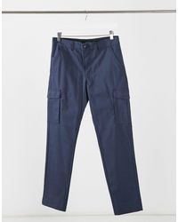 Jack & Jones Intelligence - Pantalon cargo coupe slim habillé - Bleu