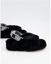 UGG Черные Слиперы Fab Yeah Slide-черный Цвет