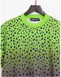 House of Holland Bright Cheetah Oversized T-shirt - Green
