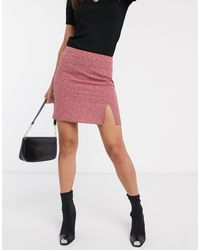 Vila Ditsy Floral Mini Skirt-multi - Multicolor