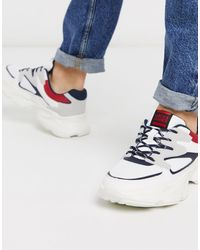 Jack & Jones Sneakers With Chunky Sole And Contrast Panels - White
