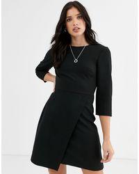 Warehouse Mini Shift Dress - Black