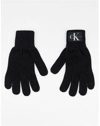 Calvin Klein Guantes negros con logo