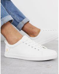 Farah Baskets à lacets - Blanc