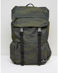 Hollister - Backpack Roll Top In Camo - Lyst