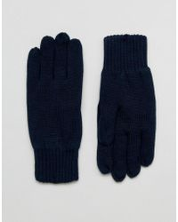 SELECTED - Leth Gloves In Navy - Lyst