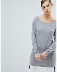 AX Paris Ribbed Sweater Dress - Metallic
