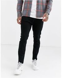 Pull&Bear Join Life Tapered Carrot Fit Jeans - Black