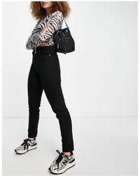 TOPSHOP Mom Tapered Jeans - Black