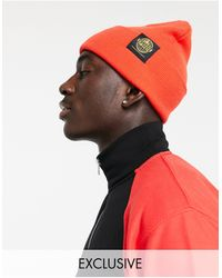 TOPMAN Exclusive To Asos Beanie With Logo - Red