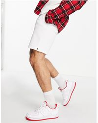 Pull&Bear Jersey Shorts - White