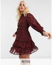 Topshop Unique Mini Dress With Ruffles - Red