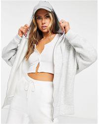 ASOS Super Oversized Zip Through Hoodie - Grey
