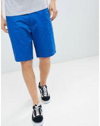 ASOS - Design Slim Longer Shorts In Royal Blue - Lyst