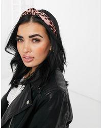 Ashiana Baby Leopard Knot Headband - Pink