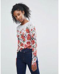 Oasis   Floral Printed Jumper   Lyst