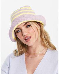 ASOS Gehaakte Bucket Hat Met Strepen - Meerkleurig