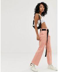 Dickies Straight Leg Chino Work Trousers - Pink
