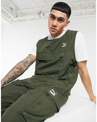 PUMA Avenir Chest Pocket Vest - Green
