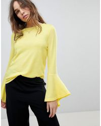ONLY - Jumper With Fluted Sleeve - Lyst