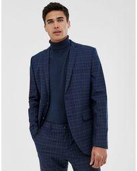 Jack & Jones Premium – Enge Anzugjacke - Blau