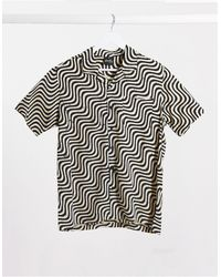 Stan Ray Kelapa - Chemise imprimé batik motif vague - Beige - Neutre