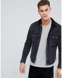 Jack & Jones - Intelligence Denim Jacket With Full Fleece Lining - Lyst
