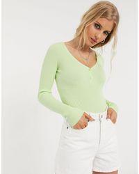 Bershka Ribbed Body - Green