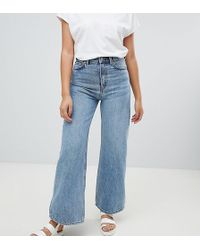 Weekday Ace Wide Leg Jeans With Organic Cotton In Blue