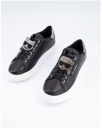 Karl Lagerfeld Черные Кроссовки Со Стразами -черный