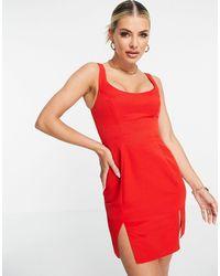 ASOS - Vestido corto rojo - Lyst