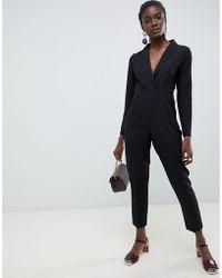 ASOS Tux Jumpsuit - Black