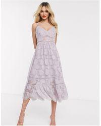 Forever New Кружевное Платье Миди Лавандового Цвета На Бретельках -фиолетовый - Пурпурный