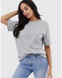 Nike Gray Mini Swoosh Oversized T-shirt