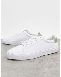 Pull&Bear Flat Sole Trainers - White