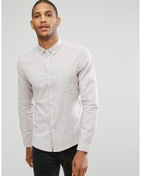 ASOS DESIGN - Casual Regular Fit Oxford Shirt In Dusty Pink - Lyst