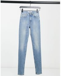 Won Hundred Marilyn - Jean skinny taille haute - Délavage clair - Bleu