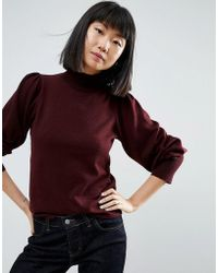 ASOS - Jumper With Full Sleeves And Roll Neck - Lyst