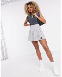 Bershka Mini Pleated Tennis Skirt - Gray