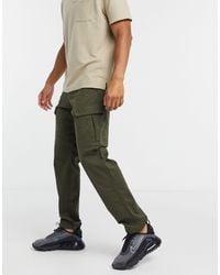 Jack & Jones Intelligence - Pantalon cargo coupe ample - Kaki - Vert