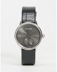 Calvin Klein Часы С Черным Ремешком -черный