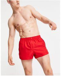 ASOS Runner Swim Shorts With Smart Fastening - Red