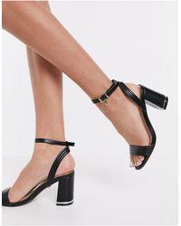 Office Maisie Block Heeled Sandals - Black