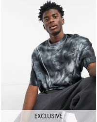 Collusion Oversized T-shirt With Seam Detail And Tie Dye - Multicolour
