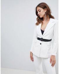 Elliatt - Striped With Belt Blazer - Lyst
